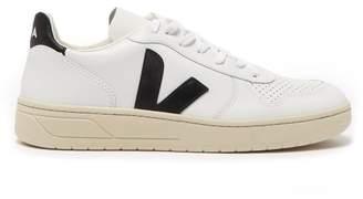 Veja V 10 Leather Trainers - Mens - White