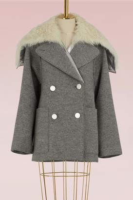 Proenza Schouler Wool and shearling short coat