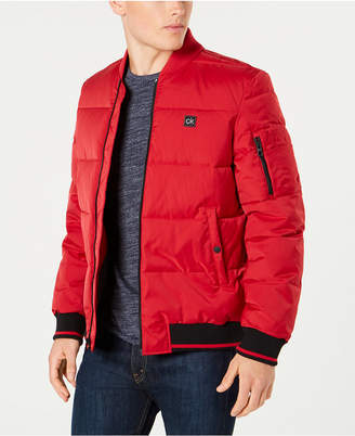 Calvin Klein Men Puffer Baseball Collar Jacket