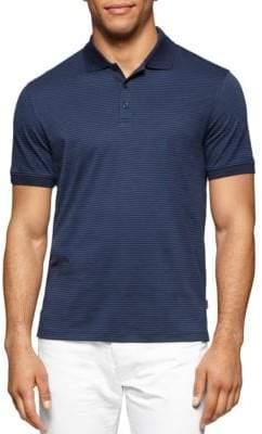 Calvin Klein Muted Stripe Cotton Polo