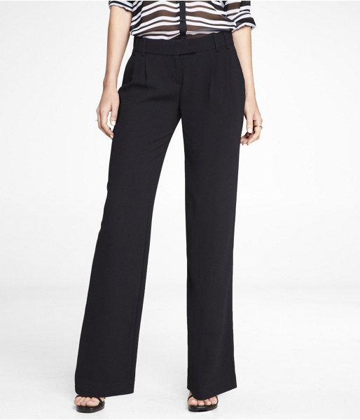 Express Pleated Wide Leg Editor Pant