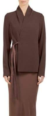Rick Owens Crepe Wool Wrap Top
