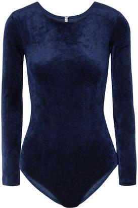 Base Range Baserange - Humero Modal-blend Velour Bodysuit - Midnight blue