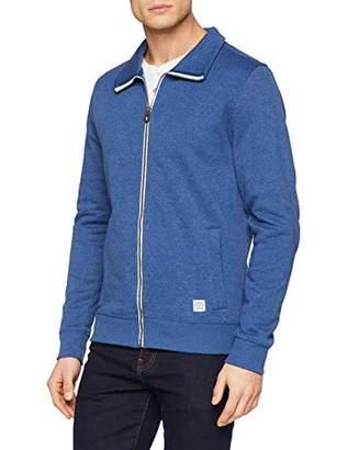 Tom Tailor Casual Men's Basic Stan, Estate Blue White Melange, L Sweatshirt, 16063, Large