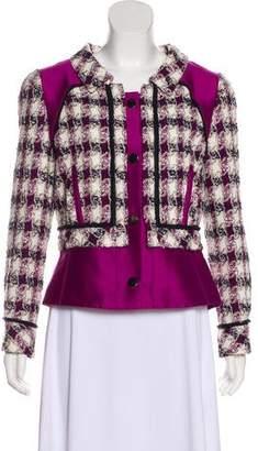 Oscar de la Renta Structured Tweed Blazer
