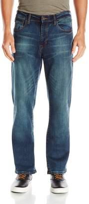 Izod Men's Comfort Stretch Relaxed Fit Jean,32x34,Dark Tint