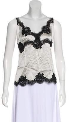 Dolce & Gabbana Silk-Blend Sleeveless Top