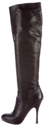 pradaPrada Semi-Pointed Knee Boots