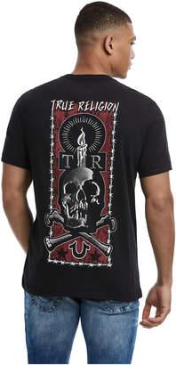 True Religion MENS SKULL AND BONES TATTOO GRAPHIC TEE