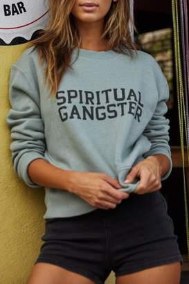Spiritual Gangster Rasta Crop Sweatshirt