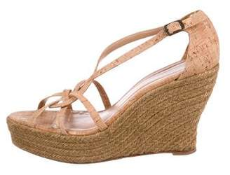Oscar de la Renta Platform Wedge Sandals