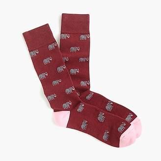 J.Crew Elephant-print socks