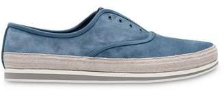 Prada laceless slip-on sneakers