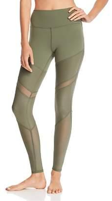 Alo Yoga Sheila High-Waist Mesh-Inset Leggings