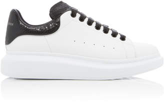 Alexander McQueen Oversized Python-Effect Leather Sneakers