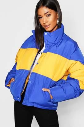 boohoo Colour Block Puffer Jacket