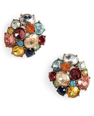 BaubleBar Mixed Crystal Cluster Stud Earrings