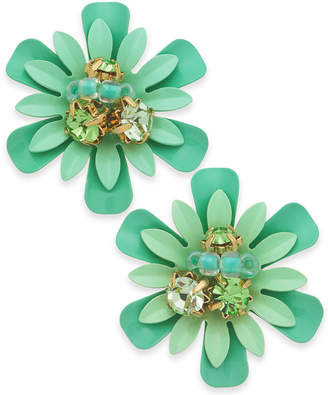 Kate Spade 14k Gold-Plated Bead & Crystal Coated Stud Earrings