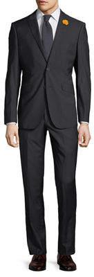 English Laundry Men's Two-Piece Suit w/ Rose Lapel, Navy