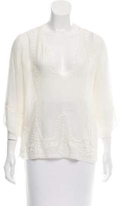 The Great Embroidered Silk Top w/ Tags