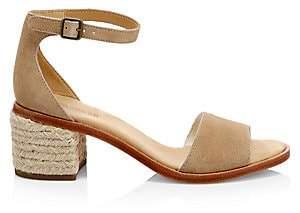 Soludos Women's Capri Suede Block Heel Espadrille Sandals