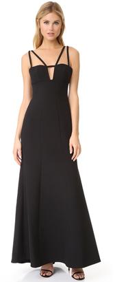 BCBGMAXAZRIA Cutout Gown $338 thestylecure.com