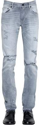 Dolce & Gabbana 16.5cm Destroyed Cotton Denim Jeans