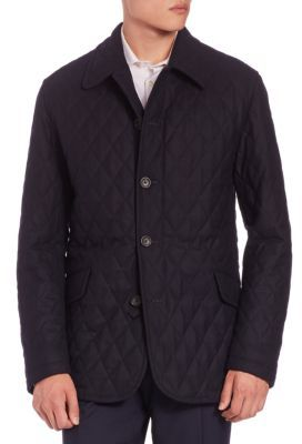SanyoSanyo Quilted Wool Twill Coat