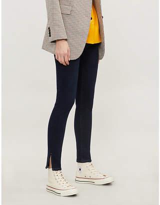 a4501538cd AG Jeans Farrah slit-hem skinny high-rise jeans