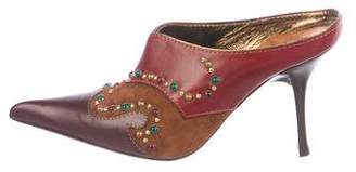 Giuseppe Zanotti Leather Embellished Mules
