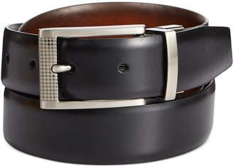 Ryan Seacrest Distinction Herringbone Inlay Reversible Belt