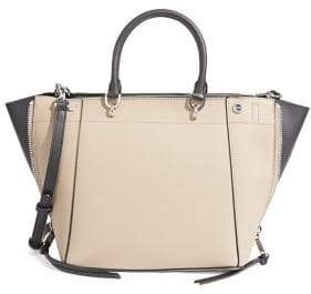 Calvin Klein Susan Two-Tone Leather Satchel