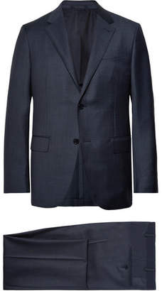 Ermenegildo Zegna Navy Milano Easy Checked Wool Suit - Men - Navy