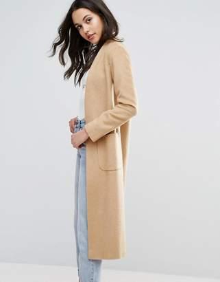 Helene Berman Edge To Edge Lightweight Wool Blend Duster Coat $190 thestylecure.com