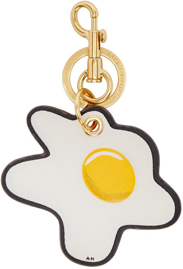 Anya HindmarchAnya Hindmarch Ivory Egg Keychain