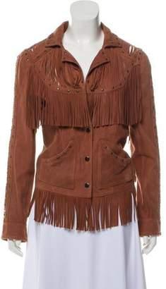 Haute Hippie Fringed Leather Jacket