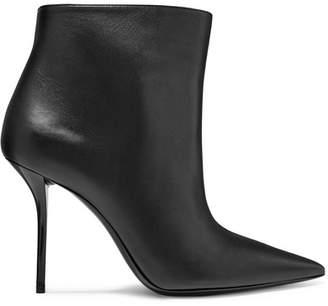 Saint Laurent Pierre Leather Ankle Boots - Black