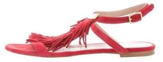 Chloé Fringe Cutout Sandals