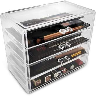 Sorbus Acrylic 4 Drawer Cosmetics Makeup & Jewelry Storage Case Display