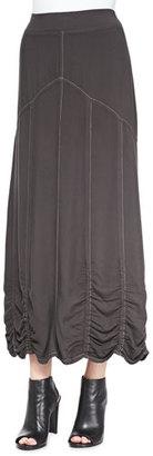 XCVI Alva Ruched Twill Maxi Skirt $130 thestylecure.com