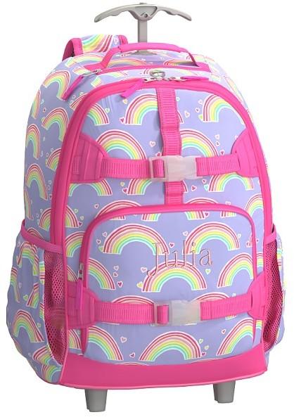 Rolling Backpack, Mackenzie Lavender Rainbow