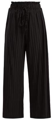 Morgan Lane - Simone Silk Blend Pyjama Trousers - Womens - Black