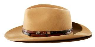 Bailey Of Hollywood Stedman Leather-Trimmed Fedora Hat