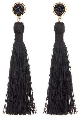 Gorjana Astoria Druzy Accent Tassel Earrings