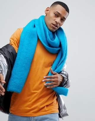 Asos DESIGN standard scarf in bright blue
