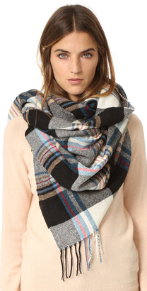 Standard Form Gingham Grid Scarf $145 thestylecure.com