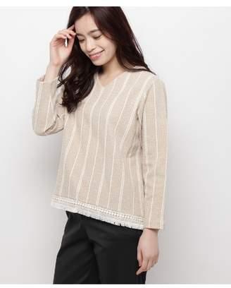 smartpink (スマートピンク) - スマートピンク ◆[洗える]裾フリンジプルオーバー
