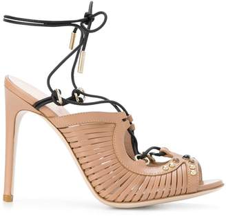 Pollini strappy ankle sandals