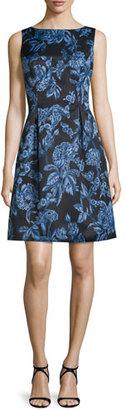 Lela Rose Betsy Full-Skirt Sheath Dress, Blue $1,595 thestylecure.com