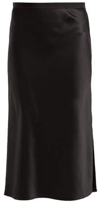 Joseph Hurst Silk Satin Skirt - Womens - Black